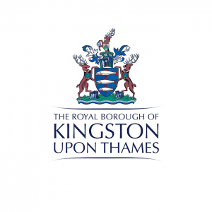 The Royal Borough of Kingston's logo with their council's crest